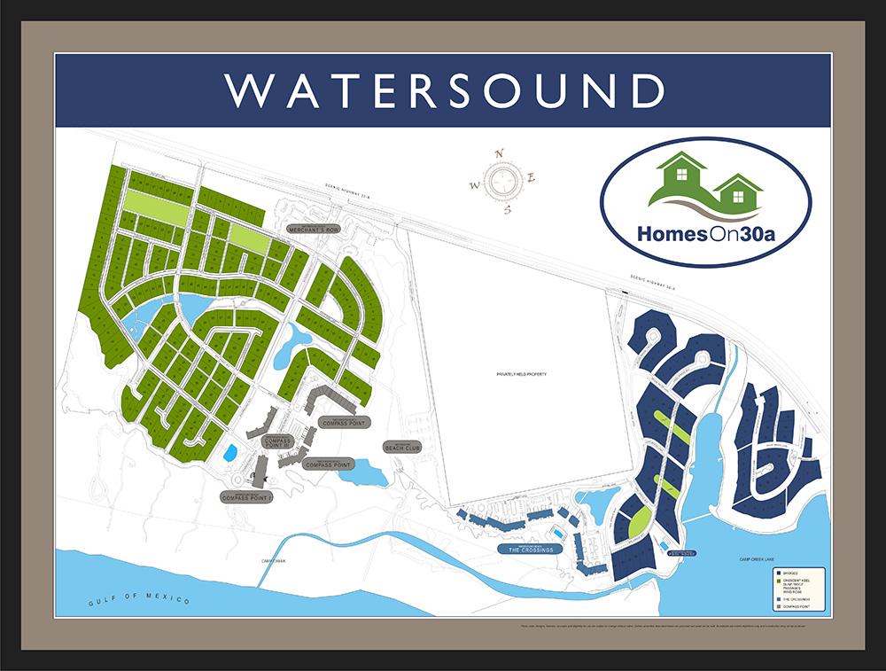 Watersound Community Map