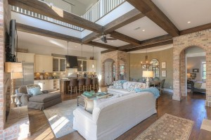 Watercolor Living Room
