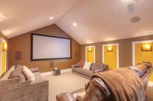 Watercolor Home Movie Room