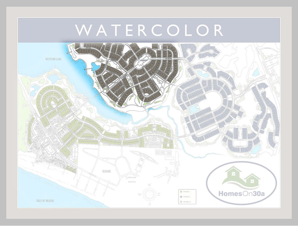Watercolor Real Estate Phase Three Homes On 30a 850 660 1830