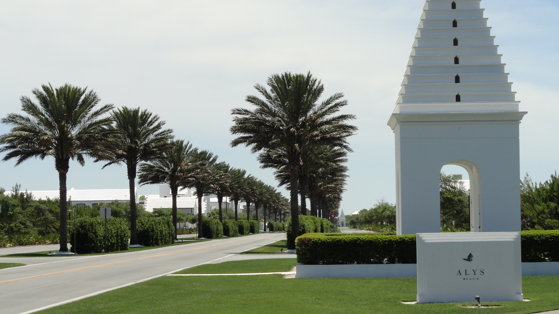Towering Palms Alys Beach Entrance